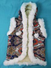 Handmade Sheep Wool Sheepskin Women's Ukrainian made Vest Jacket Coat Hooded