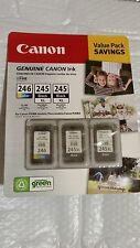 Genuine CANON Value Pack (2) PG-245XL Black and (1) CL-246 Color, Sealed
