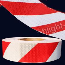 10M LKW Reflektorband KFZ Reflektorfolie Selbstklebend Warnaufkleber Rot/Weiß
