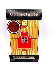 Chicago Bulls Charles Oakley jersey lapel pin-Classic throwback Collectable