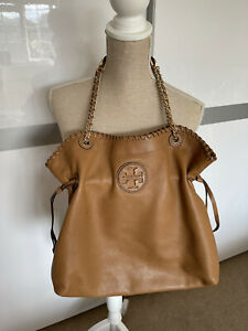 Tory Burch Brown Leather Large Shoulder Bag
