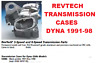 Dyna 5 Speed Transmission Case Black Replaces OEM 34747-95 Harley FXD 1991-1997
