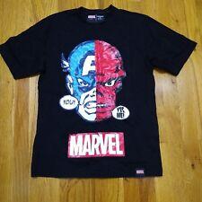 BOY London Marvel Comics 100% Authentic Mens T-shirt Black Captain America