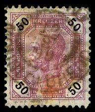 1890-96 AUSTRIA #61 NUMERALS IN BLACK - KREUZER - USED - VF - $11.00 (ESP#2222)
