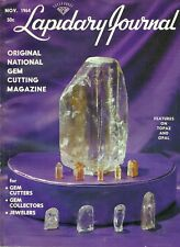 Vintage Lapidary Journal November 1964 - Gem Cutting, Jewelers, Collectors
