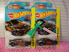 2015 SUPER Treasure Hunt 2008 LANCER EVOLUTION & Reg #77∞Black∞Hot Wheels☆MS☆