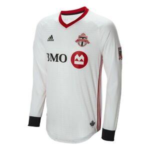 Toronto FC MLS Adidas Men's White Authentic On-Field Long Sleeve Jersey