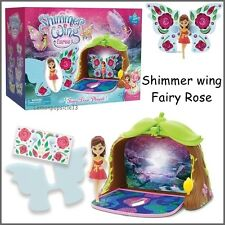 Shimmer Wing Fairies Door Play Set & Rose Figure Fairy Toy