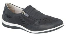 Boulevard side zip/ gusset suede /Textile  casual shoes Style L534 Col Navy s 9