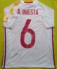 5+/5 Spain Away ORIGINAL football shirt 2015 - 2017 #6 A. INIESTA KIDS 14 YEARS