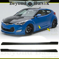 Fits 2012-2017 Veloster non-Turbo 2PC Sequence Style Side Skirts PP Body Kit