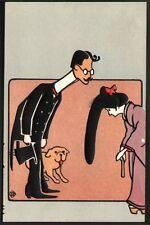 Japon. Carte estampée Art Nouveau. Carte estampée, embossed paper. Tokuda