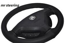 Per Vauxhall Zafira 99-04 TOP QUALITY Volante in Pelle Coperchio Grigio Stitch