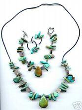 """Turquoise Set Necklace & Bracelet Earrings    """"Tears"""""""