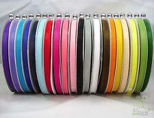 """3/8""""9mm mixed color sheer Organza RIBBON 20 colors wedding sewing 5 yard U pick"""