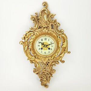 Louis XV Carteluhr Bronze feuervergoldet Pendule Wanduhr clock XVI Kaminuhr