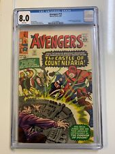 AVENGERS 13 CGC 8.0 VF WHITE PAGES 1965 IST COUNT NEFARIA - FANTASTIC FOUR