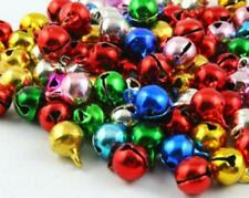 100 RINGING JINGLE BELLS CHARMS 10mm XMAS ASSORTED COLOURS TOP QUALITY
