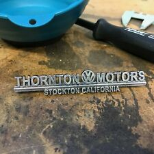 Thorton Motors Volkswagen VW Dealer Emblem Badge okrasa samba zwitter split