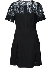 Thomas Wylde $1077 Black Cypress Lace Panel Cotton Dress Pockets Sz 4 S