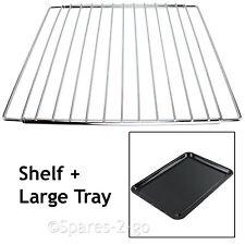 HYGENA Adjustable Chrome Oven Cooker Grill Shelf & Large Enamel Baking Tray