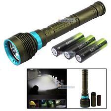 10000LM 7x XM-L L2 LED Underwater 200m Scuba Diving Flashlight Torch+3X 18650 NG