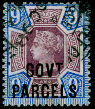 More details for sg o67, 9d dull purple & blue, fine used. cat £120.