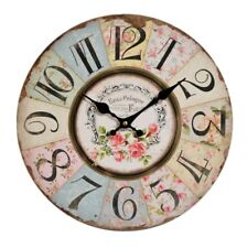 Jones Home and Gift Floral Patchwork Clock Multi-colour