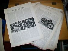 THE MOTOR CYCLE SHOW MAGAZINE ARTICLES JANUARY & DEC 1936 AUTOMOBILE ENGINEER