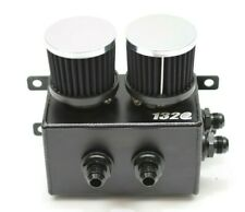 1320 Performance Oil Catch Can Universal Location Dual Filters 4x10AN fittings