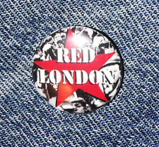 2 x Red London Button Revolution times SKINHEAD ANTI FASCIST
