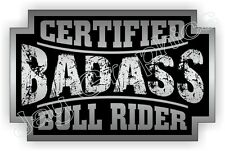 Bad Ass BULL RIDER Rodeo Helmet Sticker | Motorcycle Safety Hard Hat Decal Label