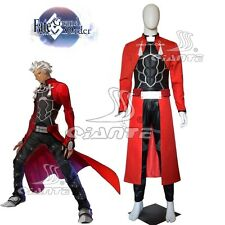 Fate/Grand Order Archer Cosplay Costume Emiya Faux Leather Fancy Dress New