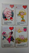 FRUTILLITAS STRAWBERRY SHORTCAKE LOTE CARTAS ULTRA RARAS ARGENTINA 1985
