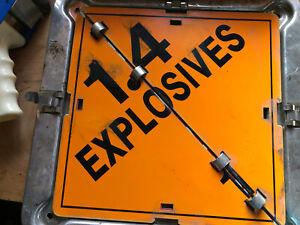 Hazard Flip 9 in 1 Placard Sign w/ Explosive Numbers Hazmat Truck industrial 213