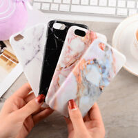 Art Glossy Granite Marble Soft TPU Phone Case Cover For iPhone X 7 6 8 Plus Skin