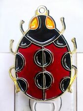 """STAINED GLASS STYLE """"LADY BUG"""" NIGHT LIGHT GREAT GIFT FOR ALL OCCASONS-UNIQUE!!"""