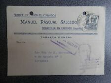 RARA CENSURA LOGROÑO FECHADOR TORRECILLA CAMEROS TARJETA PUBLICITARIA AÑO 1938