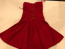 NAUGHTY SEXY HALLOWEEN COSPLAY WOMENS VERY SHORT RED LAS VEGAS CORSET DRESS