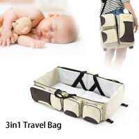 3 in 1 Diaper Tote Bag Travel Bassinet Carrycot Baby Bed Nappy Changing Station