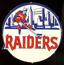 1972 73 OPC O PEE CHEE WHA HOCKEY New York Raiders Team Logo Punched Emblem