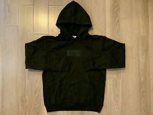 Kith Classic Box Logo Hoodie black sz XL