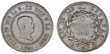 10 REALES RESELLADOS. Ag. FERDINAND VII - FERNANDO VII. MADRID 1821. VF/MBC.