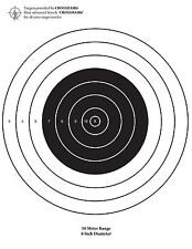 BOX of 20 - 50 Meter Bull-eye Targets AR-15, 22 Long Rifle