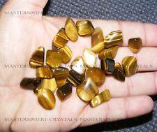50 x Gold Tigers Eye Tumblestones 10mm - 14mm A Grade Crystal Gemstone Wholesale