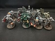 Warhammer 40k Dark Angels Techmarine and Servitors x 8 well painted