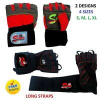WEIGHT LIFTING GLOVES BODYBUILDING GYM FITNESS SLIM FITTING LEATHER GLOVES, NEW