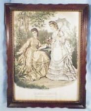 La Mode Illustre Fashion Print Post Civil War Era Ladies Gilguin Fils imp Paris