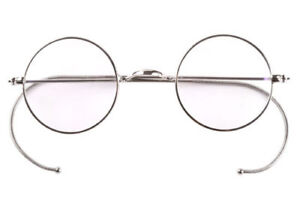 39mm Small Round Optical Rare Wire Rim Prescription Eyeglasses Frame Antique Kid