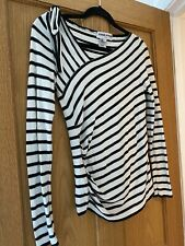 Sonia Rykiel Paris halagador Blackwhite Stripe de Superdry shoulderbow Bretón 36 UK8/10